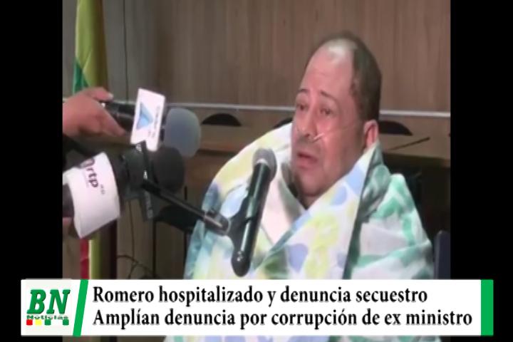 Lee más sobre el artículo Ex ministro Romero es hospitalizado y denuncia secuestro, amplían denuncia por corrupción en lucha contra el narcotráfico