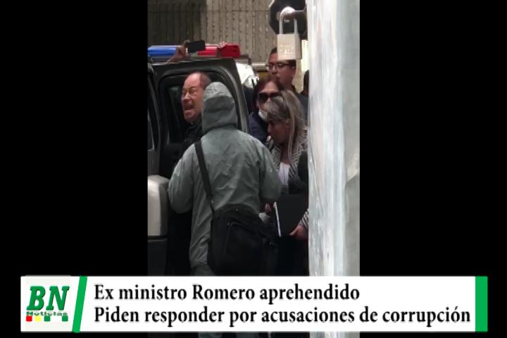 Lee más sobre el artículo Ex Ministro Romero es aprehendido y le piden responder por corrupción