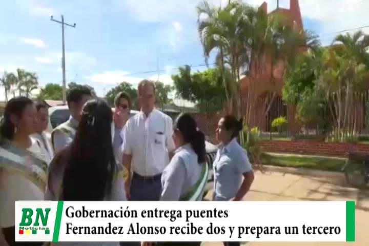 Lee más sobre el artículo Gobernación entrega dos puentes y prepara un tercero para municipio de Fernandez Alonso