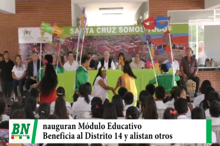 Lee más sobre el artículo Municipio inaugura Módulo Educativo 197 en Distrito 14 y alistan en otros barrios