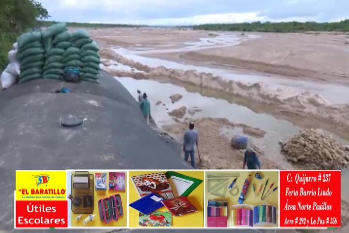 Lee más sobre el artículo Searpi denuncia que cortaron membrana del defensivo del Rio Piraí y comienza a repararlo, coordinan seguridad