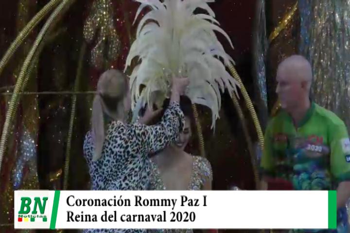Lee más sobre el artículo Coronaron a Rommy Paz I como reina del carnaval 2020 de Santa Cruz