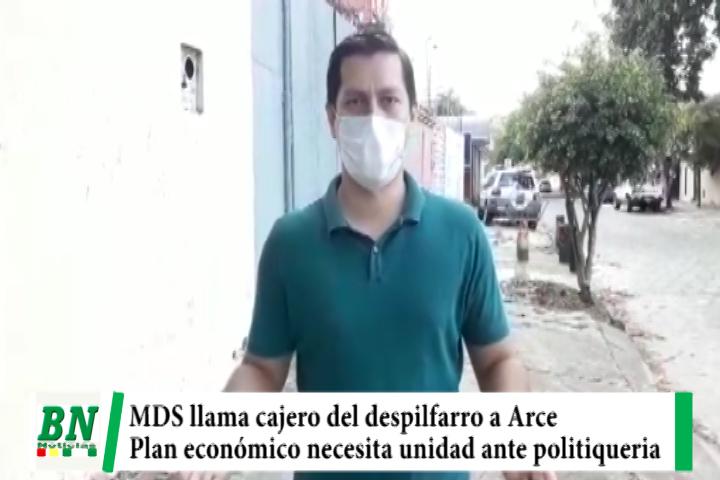 Lee más sobre el artículo Arce critica plan económico de Añez, MDS lo llama cajero del despilfarro y pide unidad ante politiqueria