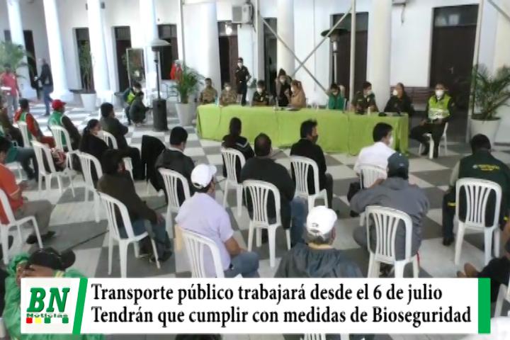 Lee más sobre el artículo Municipio autoriza a transporte público trabajar desde el 6 de julio cumpliendo Bioseguridad
