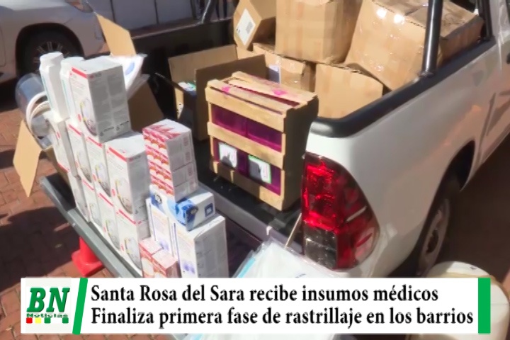 Lee más sobre el artículo Alerta coronavirus, Santa Rosa recibe insumos y primera fase de rastrillaje finaliza en la ciudad, Portachuelo y Warnes buscan contagiados