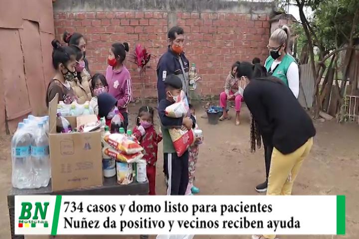 Lee más sobre el artículo Alerta coronavirus, hay 734 positivos y domo recibirá pacientes, Nuñez con covid y entregan ayuda a vecinos, San Pedro a dinámica