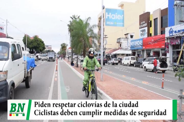 Lee más sobre el artículo Piden respetar ciclovías y a ciclistas mantener medidas de seguridad para evitar accidentes