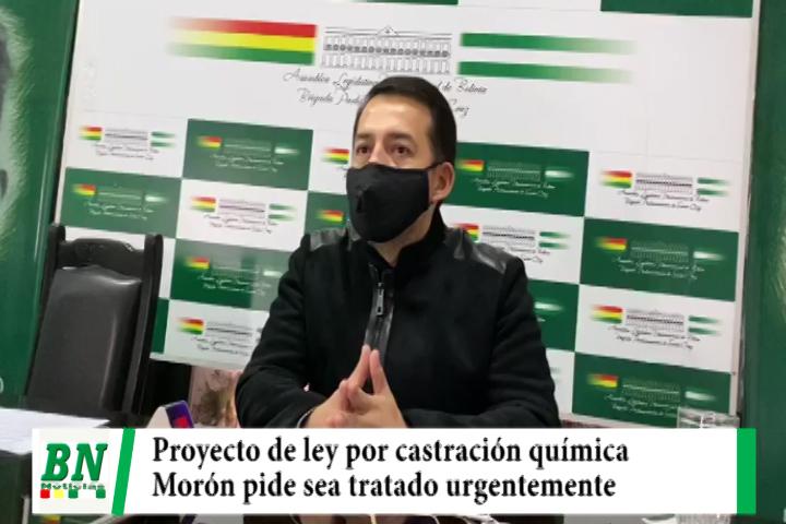 Lee más sobre el artículo Diputado Morón pide la reposición del proyecto de ley de castración química para violadores