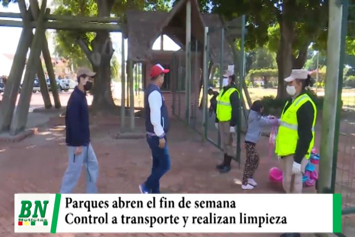 Lee más sobre el artículo Parques listos para el fin de semana, realizan control a transporte y limpian y desinfectan mercados