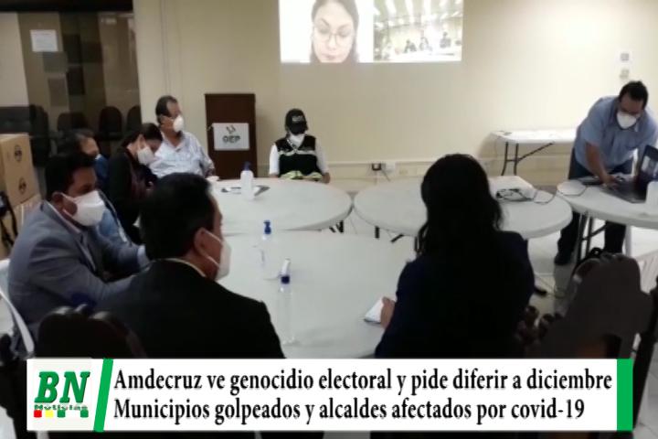 Lee más sobre el artículo Elección 2020, Amdecruz califica de genocidio elección 6-9 y pide diferir a diciembre, municipios golpeados por covid-19