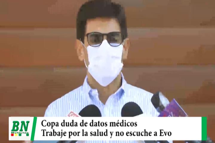 Lee más sobre el artículo Eva Copa duda de enfermedad de ministros y Presidenta y Senador de UD le pide no escuchar a Evo y trabajar por la salud