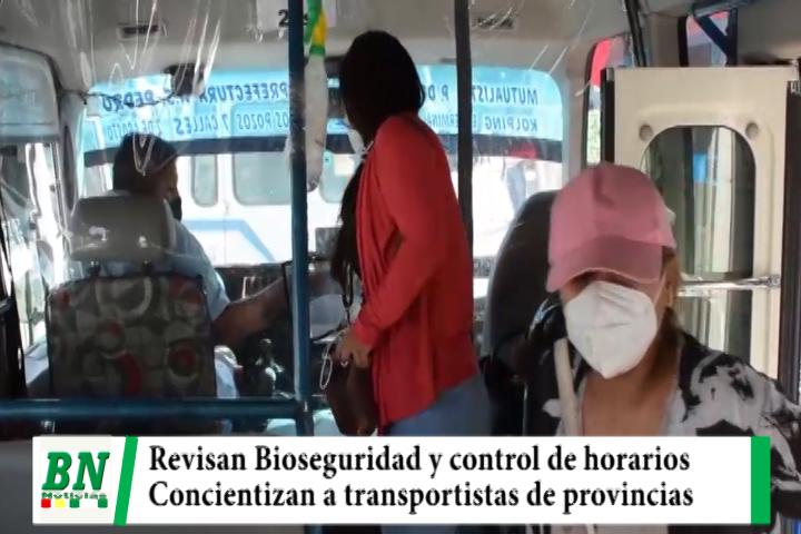 Lee más sobre el artículo Revisan y controlan horario del transporte público y Gobernación concientizan a provinciales