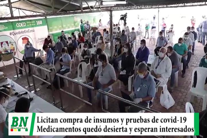 Lee más sobre el artículo Gobernación licitó compra de insumos y pruebas para covid-19, medicamentos quedó desierta y hay nueva convocatoria