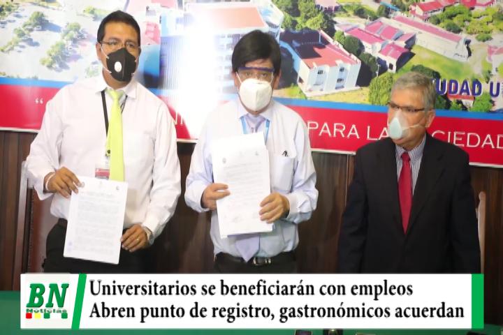 Lee más sobre el artículo Universitarios se beneficiarán con empleos y Gobierno abre punto de registro, gastronómicos firman acuerdo