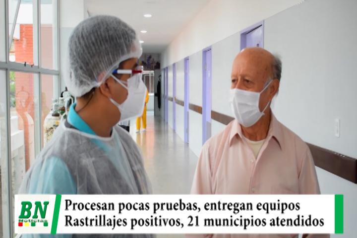 Lee más sobre el artículo Alerta coronavirus, realizan pocas pruebas, entregan equipos y mayor se recupera, rastrillaje positivos y 21 municipios atendidos