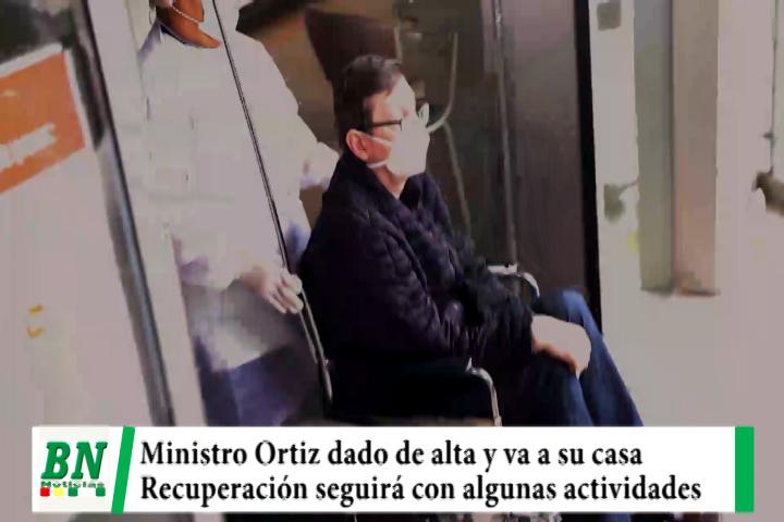 Lee más sobre el artículo Ministro Ortiz dado de alta y seguirá recuperación en su casa con algunas actividades tras recuperarse del covid-19