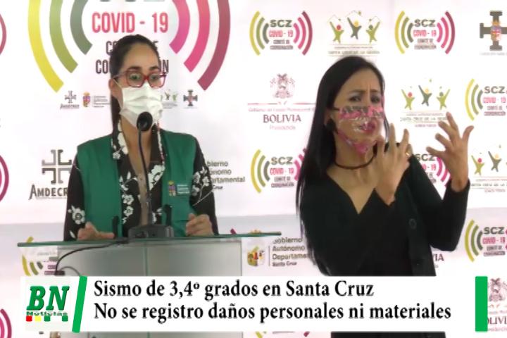 Lee más sobre el artículo Sismo de 3,4º se registró en Santa Cruz sin causar daños materiales o personales