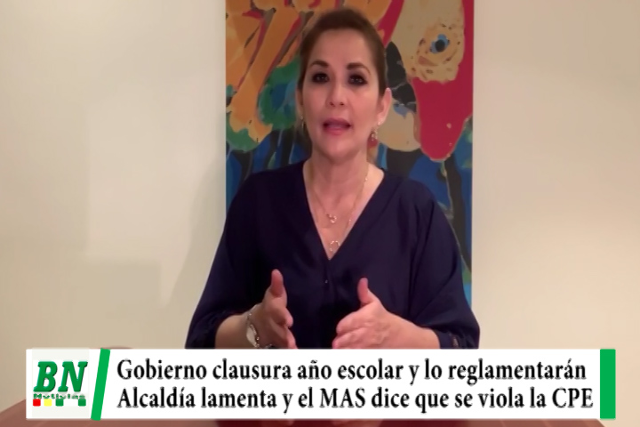 Lee más sobre el artículo Gobierno clausura el año escolar y lo reglamentará, Alcaldía lamenta y el MAS dice que se viola la CPE