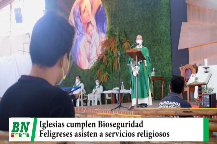 Lee más sobre el artículo Iglesias Católica y Evangélica cumplen con medidas de Bioseguridad en sus servicios religiosos