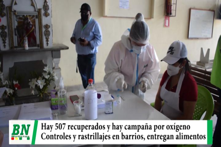 Lee más sobre el artículo Alerta coronavirus, 507 recuperados y campaña por tubos de oxígeno, control y rastrillaje en barrios y mercados, se entrega alimentos