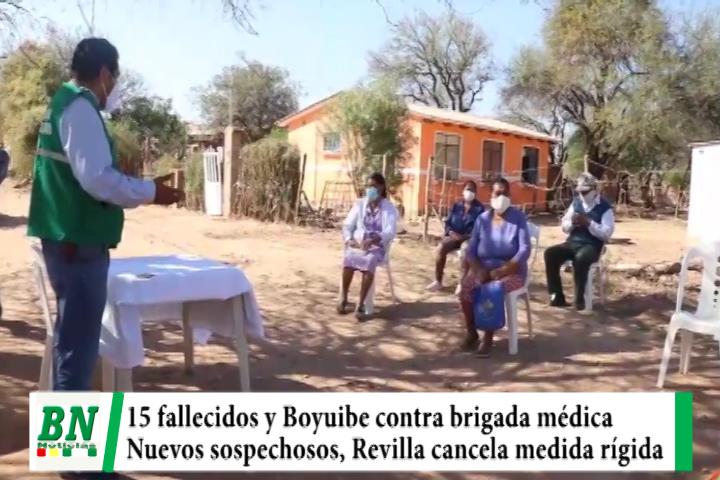 Lee más sobre el artículo Alerta coronavirus, 15 fallecidos y Boyuibe no deja a brigadas trabajar, Rastrillajes con sospechosos y Revilla cancela medida rígida