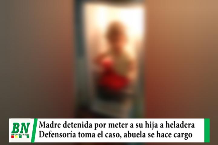 Lee más sobre el artículo Detención de madre que metió a su hija en una heladera y defensoría da custodia a la abuela