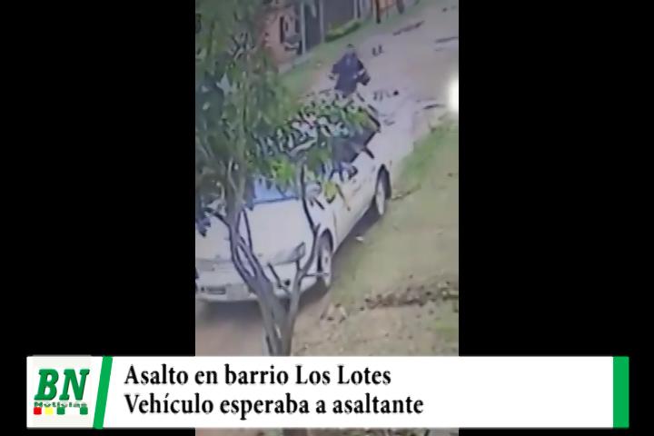Lee más sobre el artículo Asaltan a transeúnte en el Barrio Los Lotes y vehículo lo espera al ladrón cerca