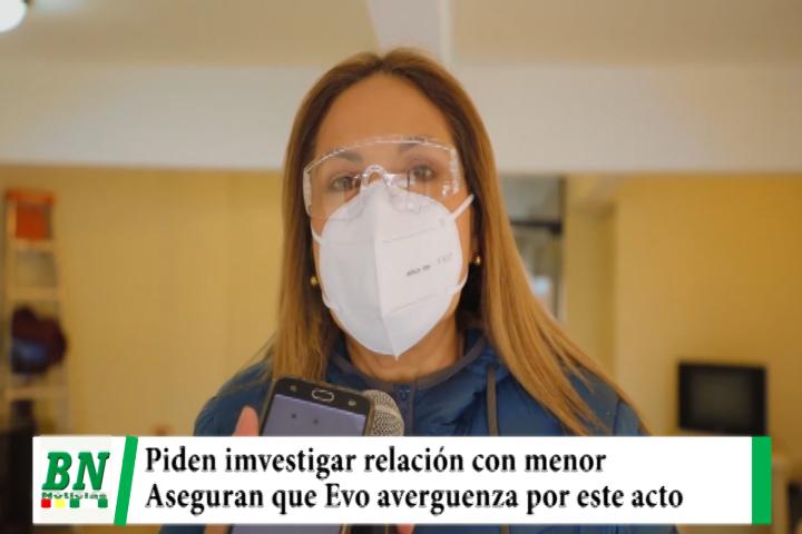 Lee más sobre el artículo Quiroga pide investigar supuesta relación de Evo Morales con una menor