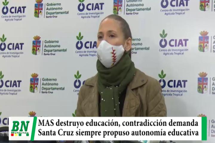 Lee más sobre el artículo Contradictorio el MAS demanda reinicio de clases cuando la destruyó en 14 años, Santa Cruz pide autonomía educativa