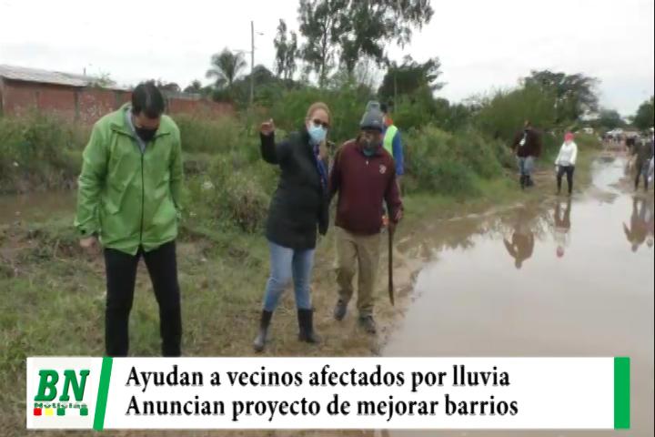 Lee más sobre el artículo Vecinos afectados por las lluvias reciben ayuda y anuncian mejoras para los barrios de esa zona