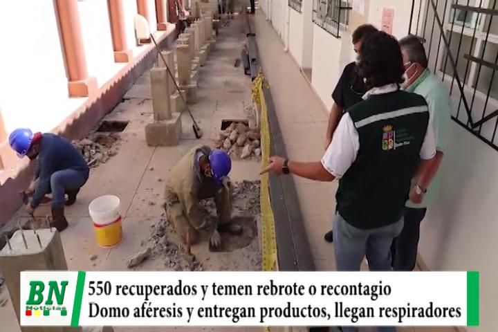 Lee más sobre el artículo Alerta coronavirus, 550 recuperados y temen rebrote o recontagios, construyen domo y llegan respiradores de USA