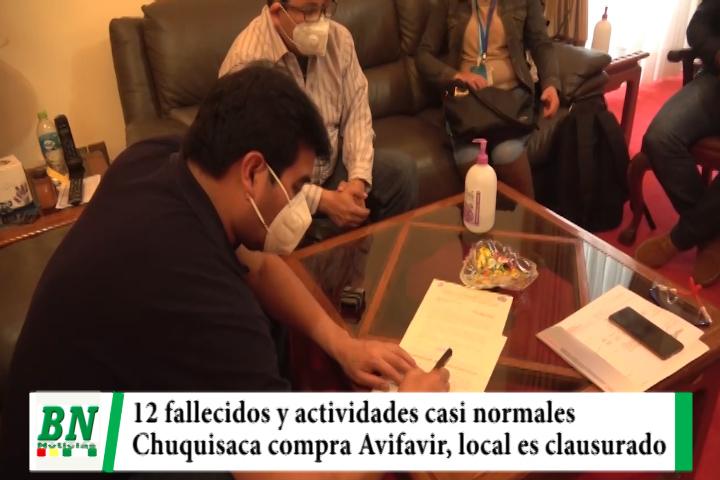 Lee más sobre el artículo Alerta coronavirus, Fallecen 12 y preocupa fin de semana casi normal, Chuquisaca compra Avifavir, implementan fisioterapia