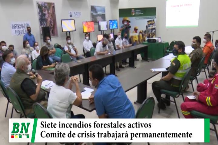 Lee más sobre el artículo Siete incendios forestales activos y Comité de crisis trabajará permanentemente
