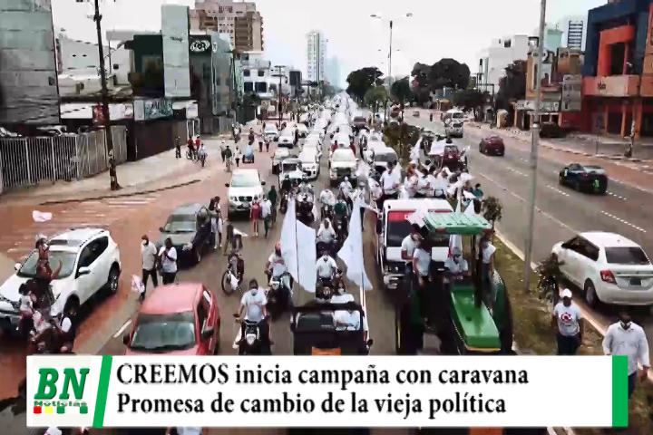 Lee más sobre el artículo Campaña CREEMOS, inició con caravana donde Camacho y Pumari se comprometieron a cambiar la vieja política
