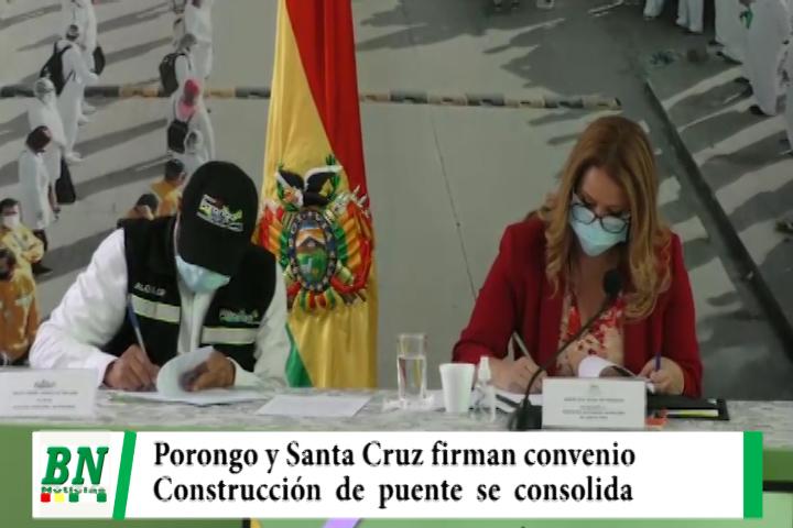 Lee más sobre el artículo Puente a Porongo, firman acuerdo que consolida construcción de puente por ex Jardin Botánico