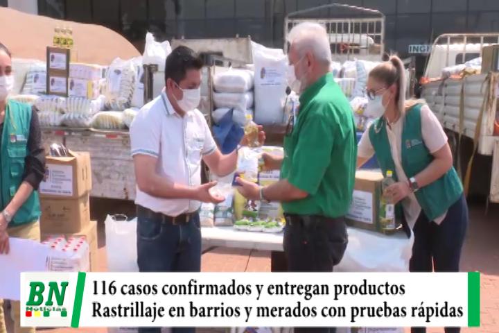 Lee más sobre el artículo Alerta coronavirus, 116 casos y piden cumplir Bioseguridad, entregan productos para provincias, rastrillaje con pruebas rápidas
