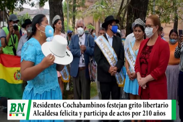 Lee más sobre el artículo Residentes Cochabambinos festejam 210 años de grito libertario y Alcaldesa Cruceña felicita y participa de actos