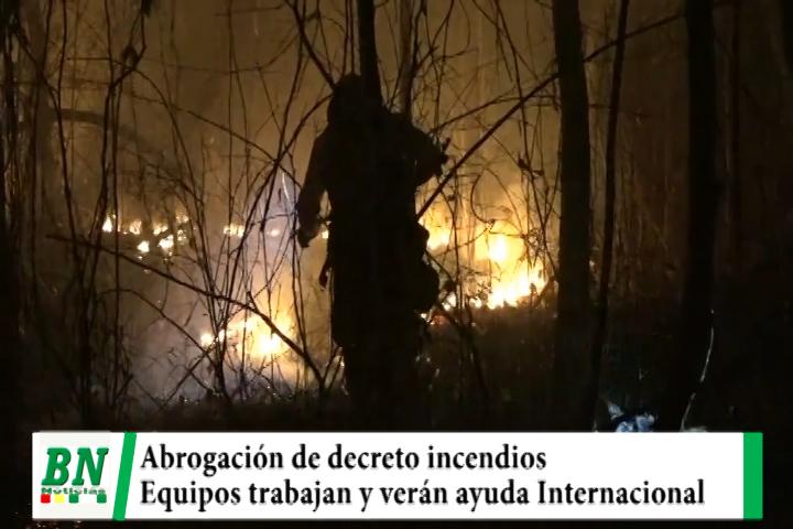 Lee más sobre el artículo Registran 24 incendios y Gobierno abroga decreto quemas, verán ayuda internacional y sanción a chaqueos