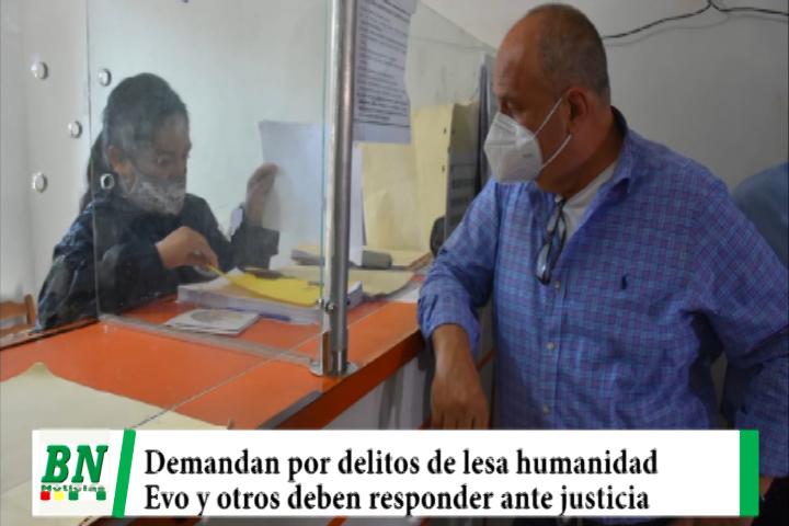 Lee más sobre el artículo Gobierno cierra caso terrorismo II y demanda a Evo y otros por delitos de lesa humanidad