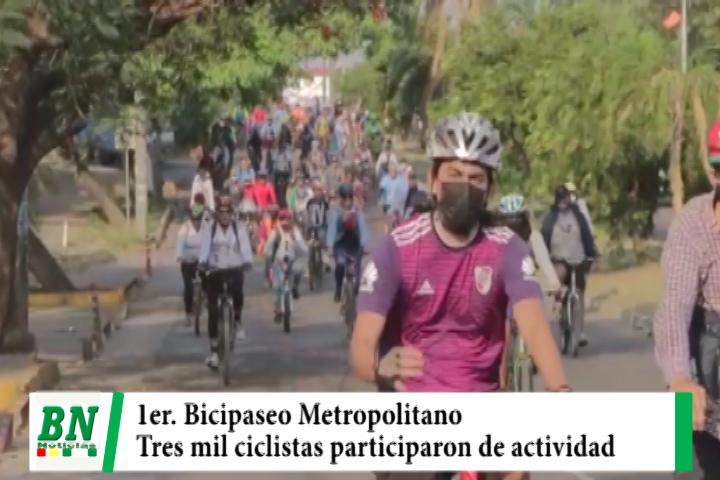 Lee más sobre el artículo Primer Bicipaseo Metropolitano con participación de tres mil ciclistas es catalogado como gran éxito