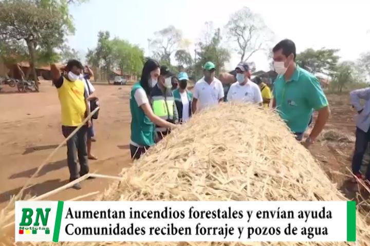 Lee más sobre el artículo Incendios forestales llegan a 54 y envían ayuda, comunidades reciben forraje y pozos de agua