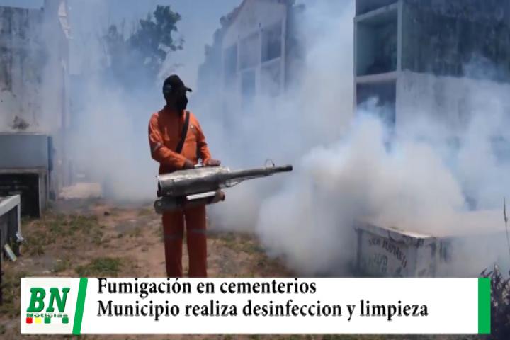 Lee más sobre el artículo Municipio realiza limpieza y desinfección en sus 24 cementerios, hay prohibiciones para visitantes