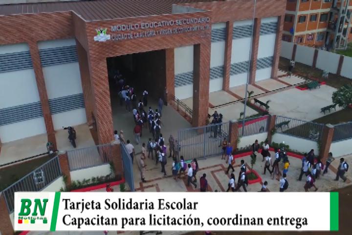 Lee más sobre el artículo Capacitan a personal para licitación de Tarjeta Solidaria Escolar y coordinan entrega de este beneficio