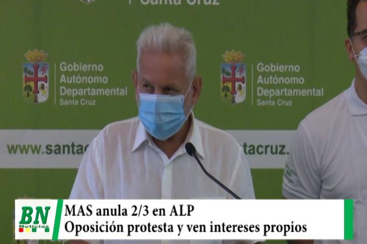 Lee más sobre el artículo MAS anula los 2/3 en la ALP y sus opositores protestan y anuncian medidas, acusan a Arce de dar malas señales