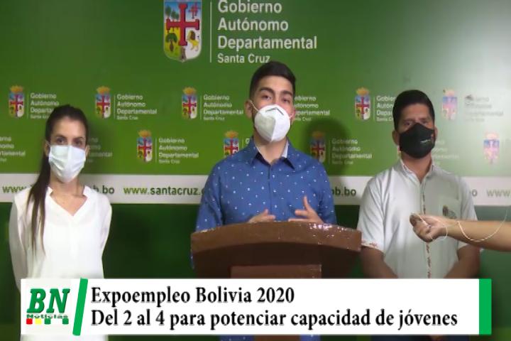 Lee más sobre el artículo Del 2 al 4 de octubre se realizará expoempleo Bolivia 2020 y busca potenciar capacidad y empleabilidad de jóvenes