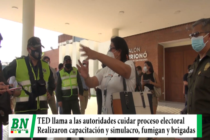 Lee más sobre el artículo elección 2020, TED pide cuidar proceso con prevención, realizaron simulacro y se fumigó recintos, habrán brigadas médicas