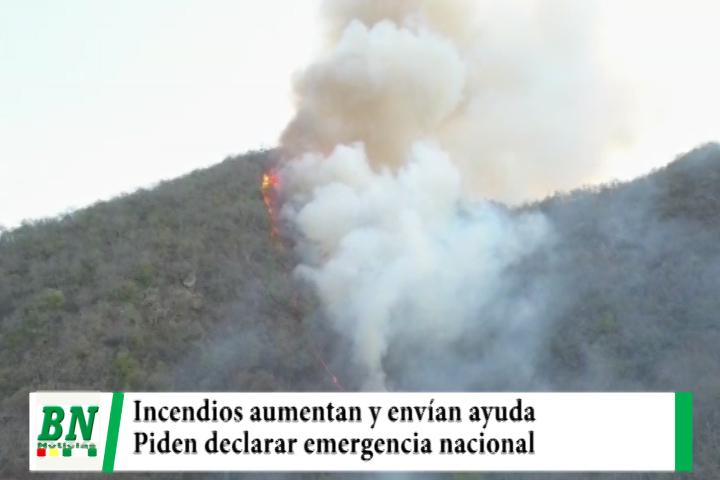 Lee más sobre el artículo Ministros verificaron incendio en Macharety, ayuda es enviada y municipios piden declarar emergencia nacional