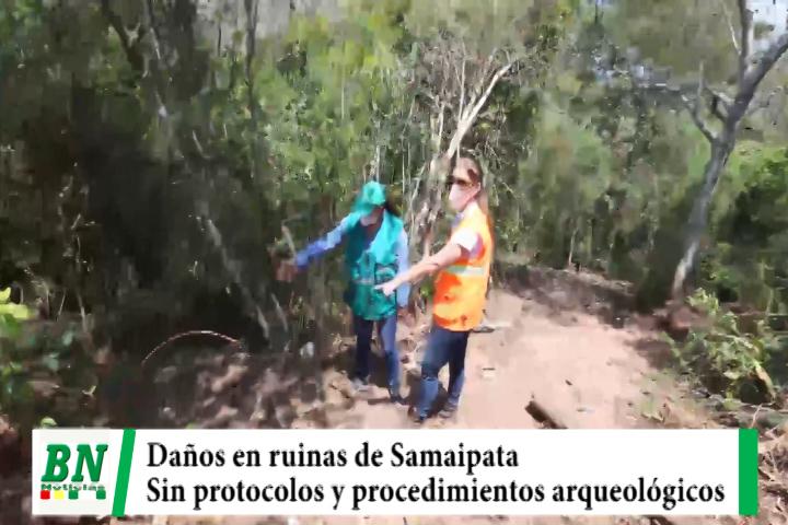 Lee más sobre el artículo Inspección en obras a Ruinas de Samaipata mostró daños por violentar protocolos y procedimientos arqueológicos