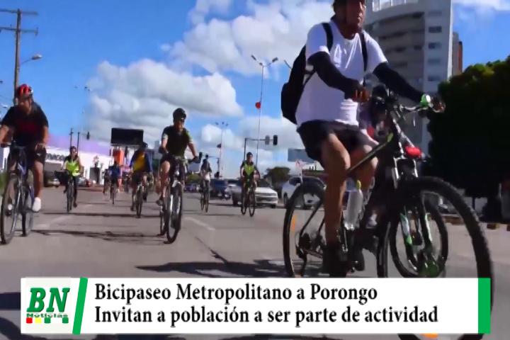 Lee más sobre el artículo Bicipaseo Metropolitano a Porongo se realiza este sábado e invitan a población a ser parte
