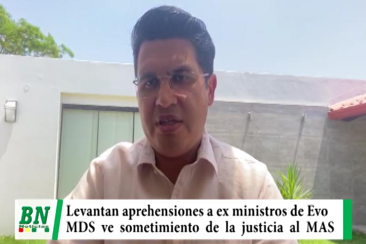 Lee más sobre el artículo Levantan aprehensiones contra Quintana y ex ministros de Evo y MDS ve sometimiento de justicia al MAS